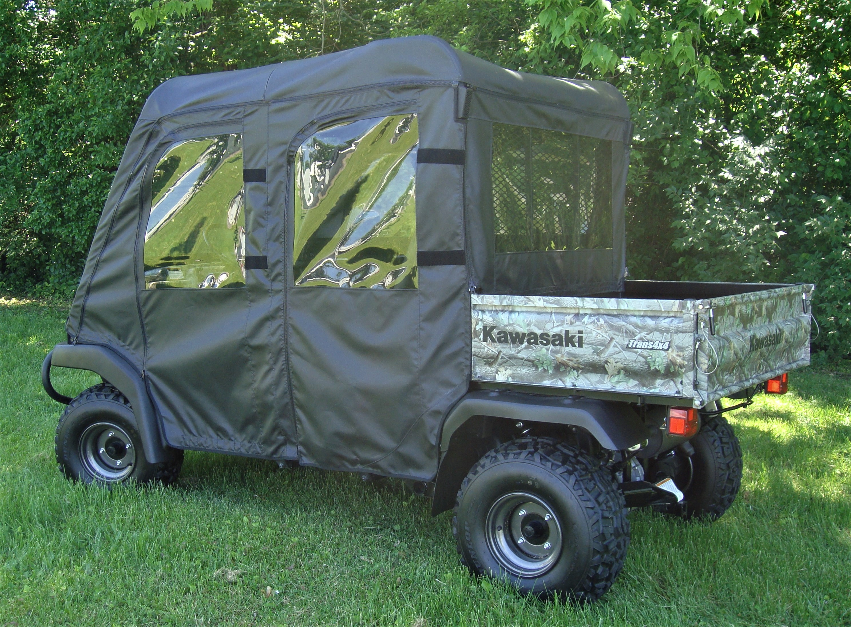A/&S AUDIO AND SHIELD DESIGNS KAWASAKI MULE 3000,3010 TRANS 4X4 FULL AND FLIP UP 3//16 POLYCARBONATE WINDSHIELD