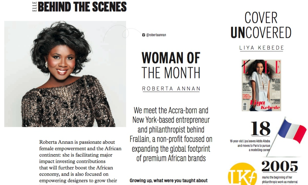 Meet elle magazine woman of the month roberta annan for Elle magazine this month