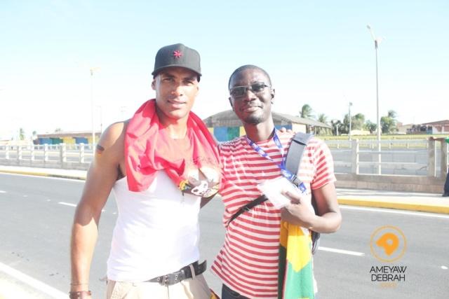 Ameyaw Debrah and Boris Kodjoe at Brazil FIFA World Cup 2014