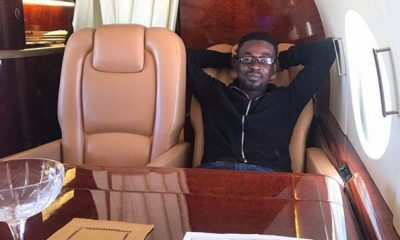 Zylofon Media and Menzgold boss spotted in his private jet