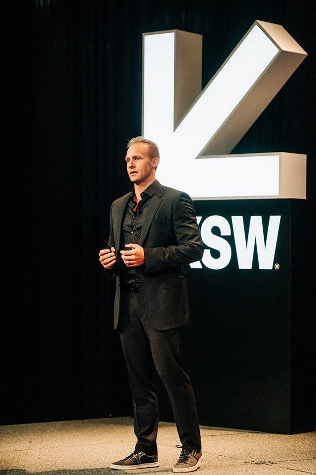 Playbook Hub Founder,  Rudi Pienarr speaking at SXSW 2019 showcase