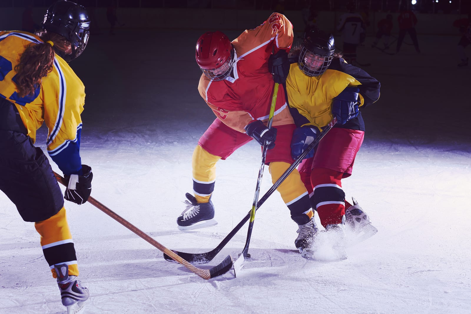ice hockey sport players in action