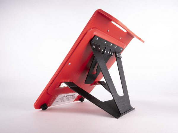 Read Write Mini back angle view with stand in use