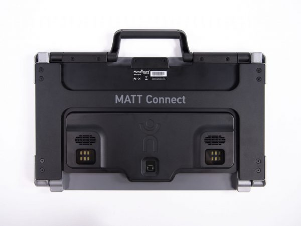 MATT Connect rear view displayed folded with camera lighting array and carrying handle in view