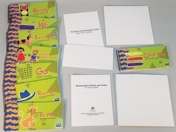 Building on Patterns Primary Braille Literacy Program Kindergarten Student Kit