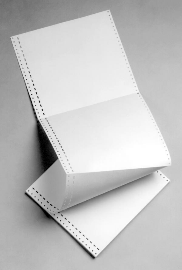 White Fanfold paper