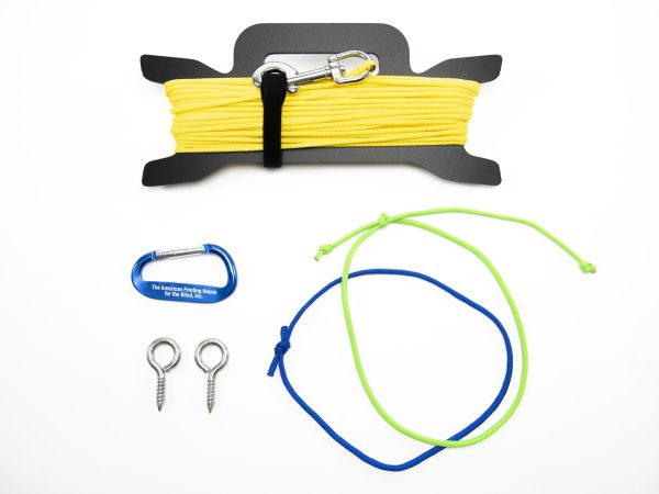 Walk Run for Fitness accessory pack components and guide rope with rope caddy
