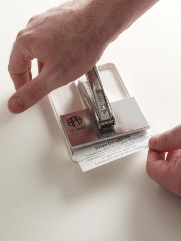 APH braille business card embosser