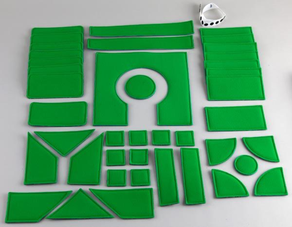 Tactile Town grassy sections set components