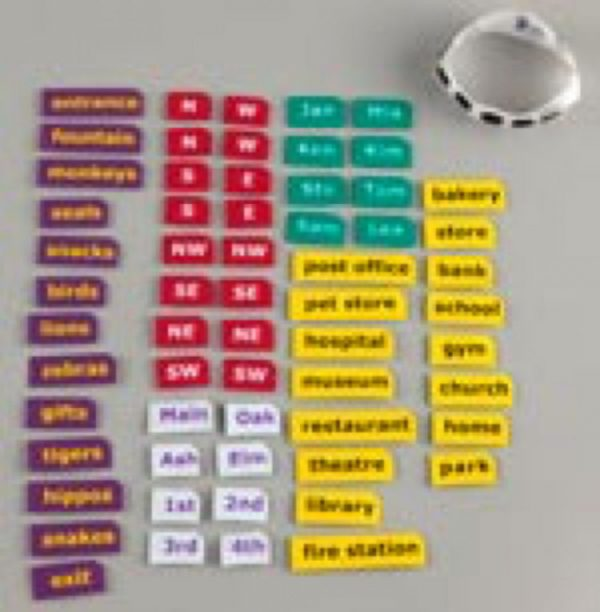 Tactile Town print-braille labels