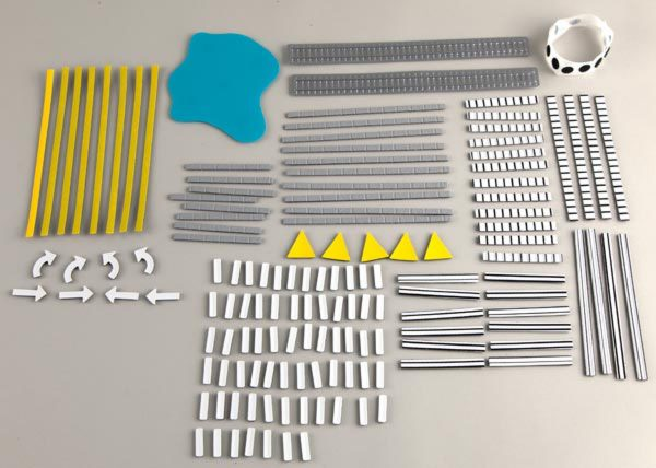 Tactile Town street scenery set components