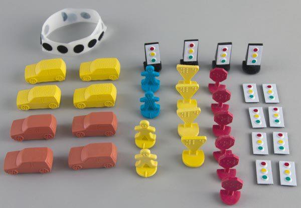 Tactile Town 3D set components
