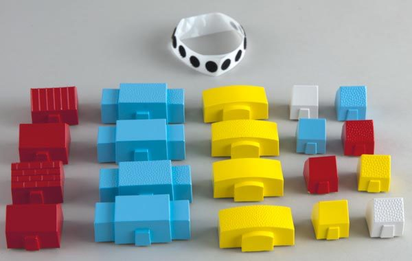Tactile Town 3D buildings set components