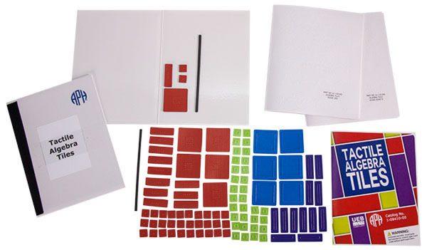 Tactile Algebra Tiles kit components
