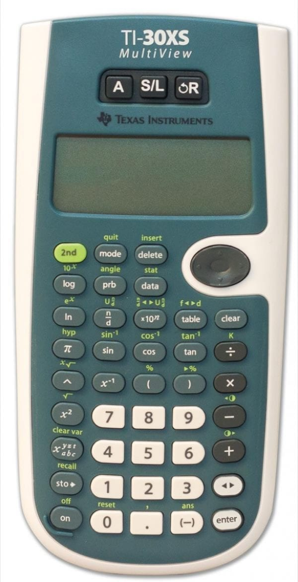 Front view of Orion TI-30XS Multiview Talking Scientific calculator