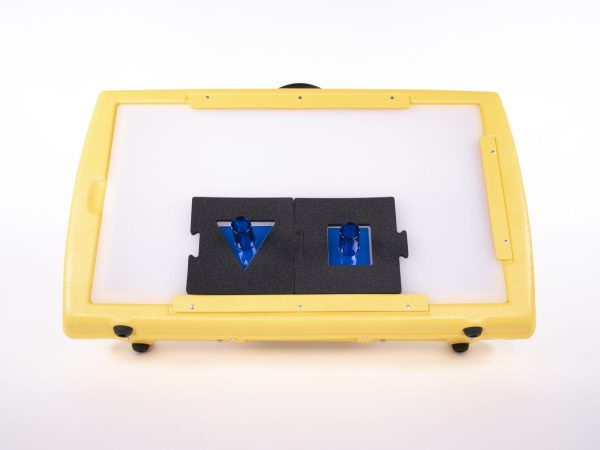 Front view of Light Box with Bright Shapes Knob Puzzle pieces