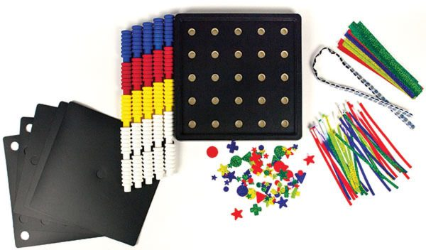 IIncreasing Complexity Pegboard Kit Components