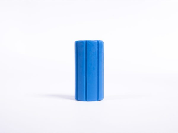 Giant Textured Beads striped blue cylinder