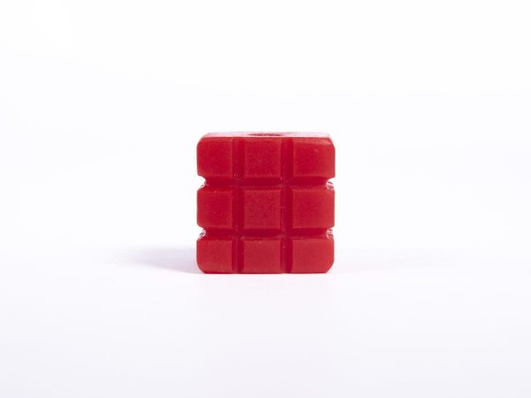 Giant Textured Beads grid red cube