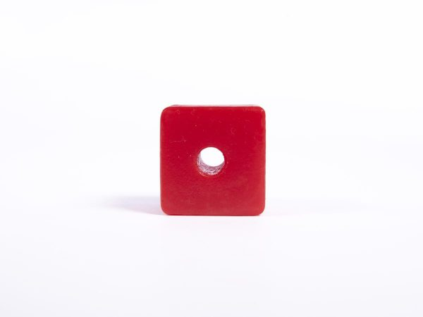 Giant Textured Beads grid red cube top