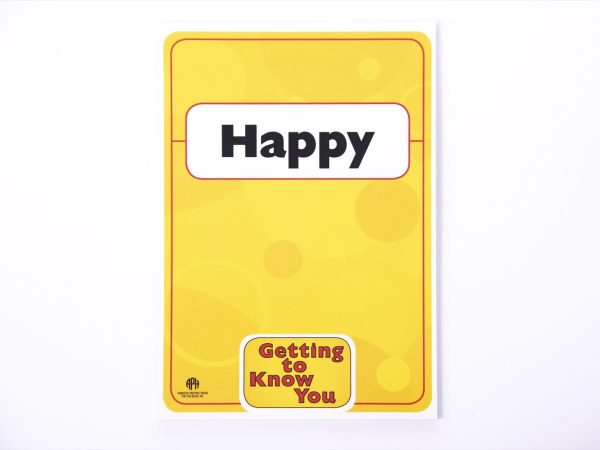 Happy Card from Getting to Know You Facial Expression Cards