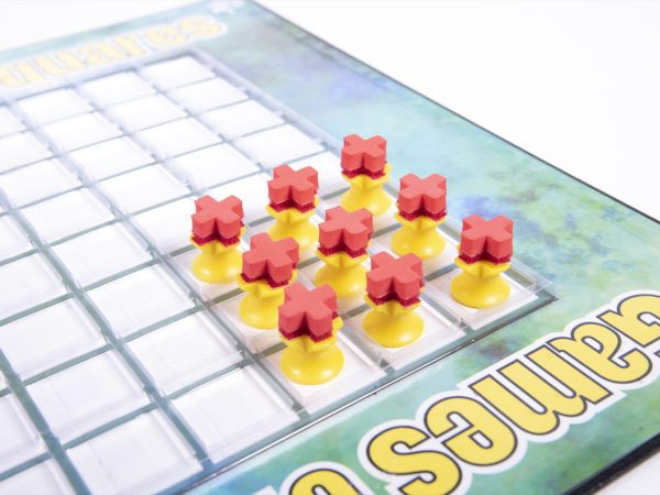 X/O Game Tokens with Crown X pieces from Games of Squares kit