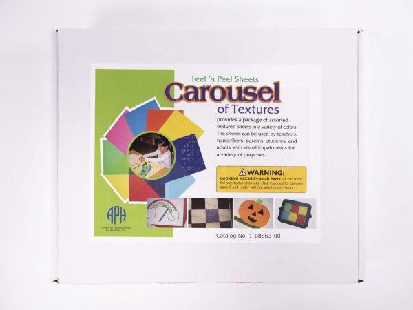 Carousel of Textures Feel 'n Peel package of sheets