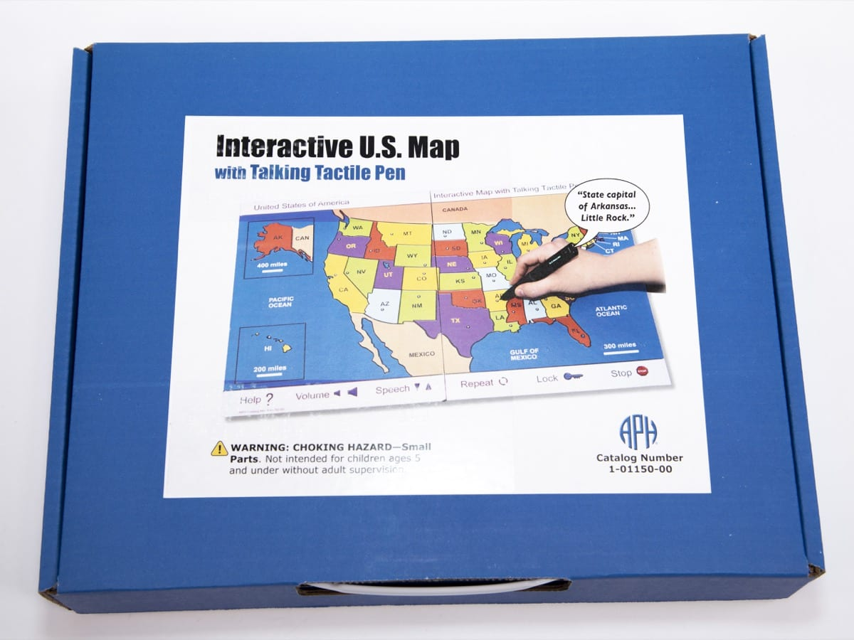 Interactive US Map with Tactile Pen