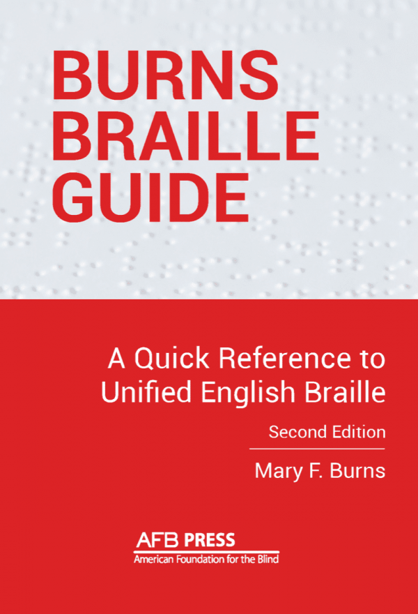 Burns Braille Guide front cover