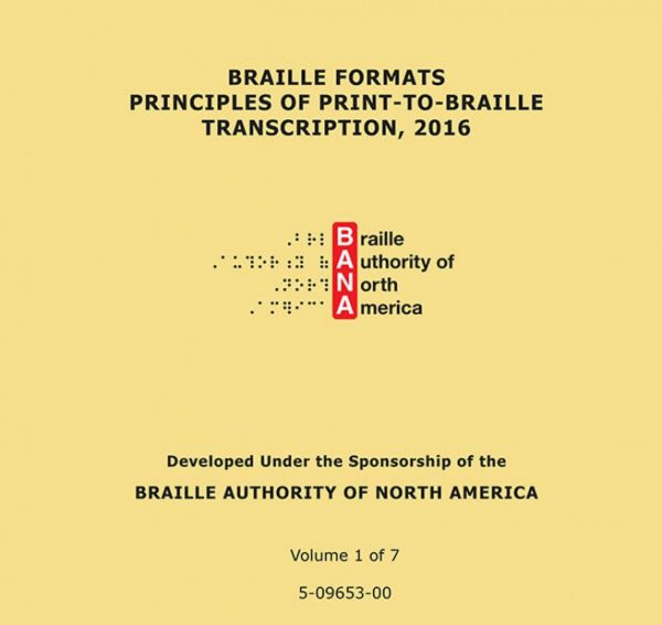 Braille Formats Principles of Print-To-Braille Transcription, 2016
