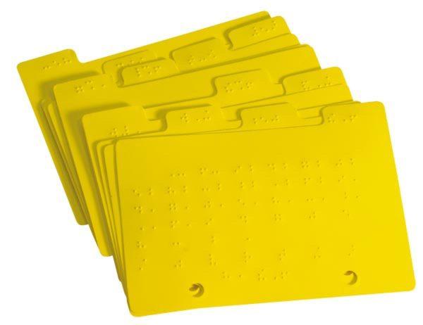 Braille Datebook Calendar Tabs