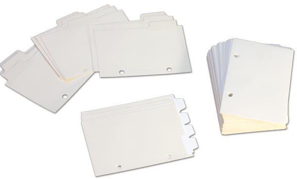 Braille Datebook Filler Paper Tabs