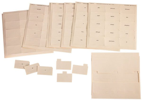 Braille Contraction Cards