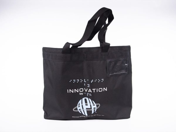 Black Innovation Tote Bag with carrying handles