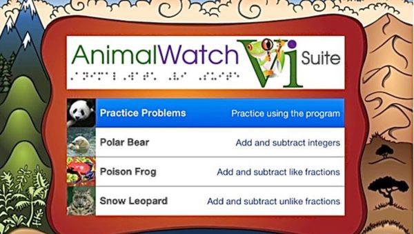 Animal Watch home screen