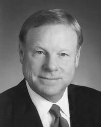 A black and white portrait of James Lintner, Jr