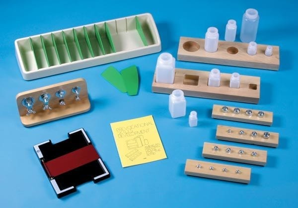 Prevocational Skills Development Materials Kit Components