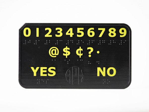 DeafBlind Pocket Communicator Number Side Close-up