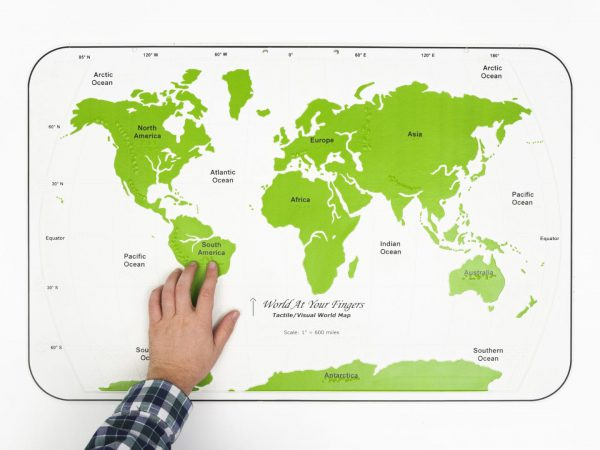 World At Your Fingers Hand Touching Map