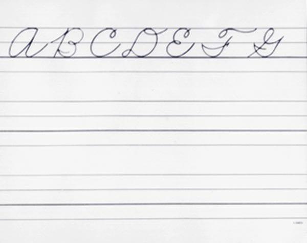 Beginner's Writing Paper with Alphabet: Lower Case Manuscript