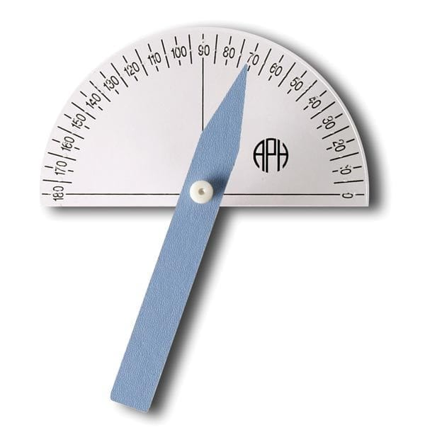 Braille Large Print Protractor