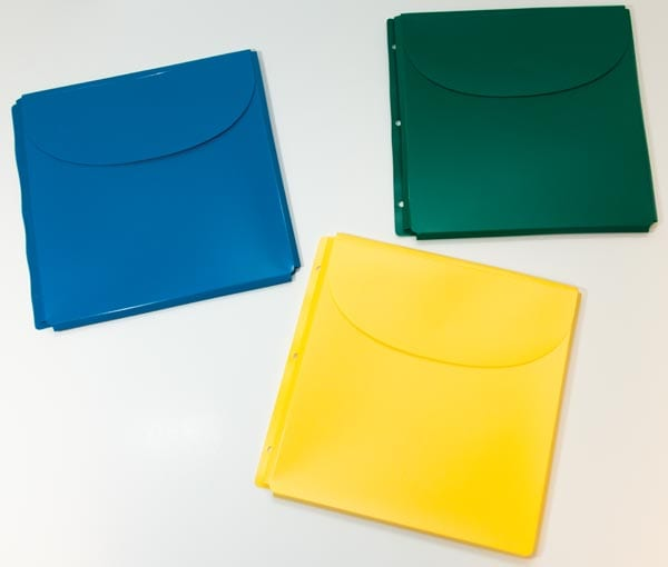 Plastic Binder Envelopes Set For Braille