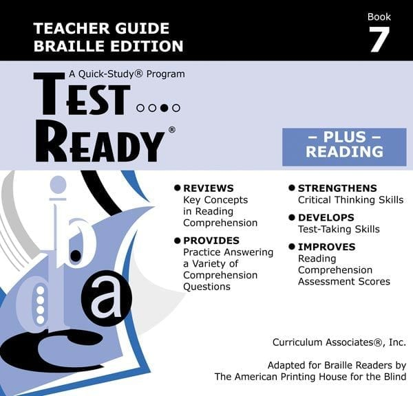 Test Ready Plus Reading, Book 7, Teacher Guide