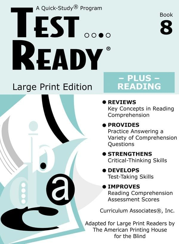 Test Ready Plus Reading, Book 8, Student Book