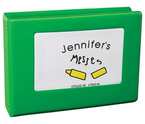 Jennifer's Messes 3-ring bound book