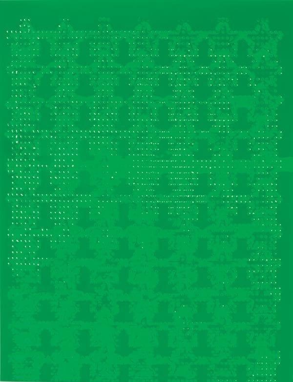 Sheet of green Feel-n-Peel Star stickers