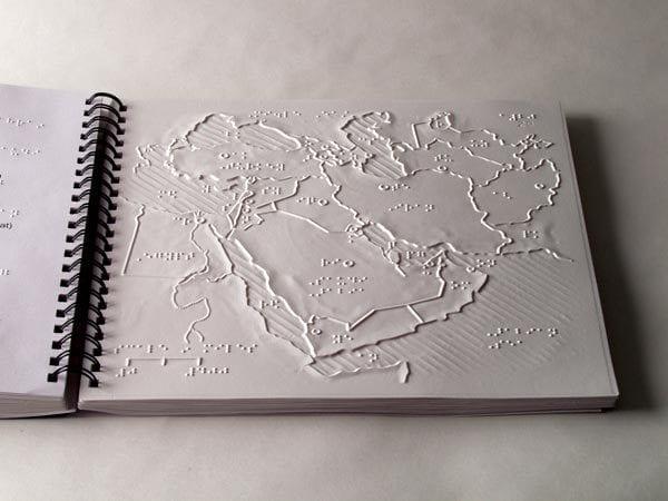 World Maps Spiral Bound Book Open