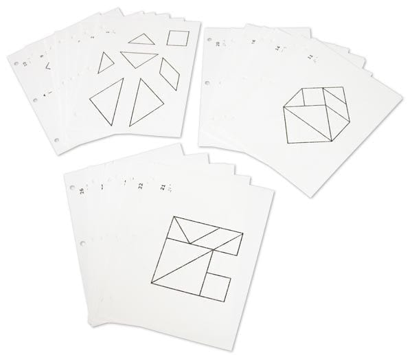 Tactile Tangrams Solution cards