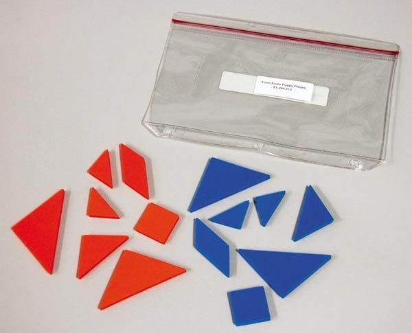Tactile Tangrams foam shapes