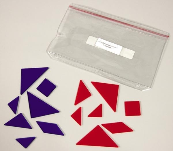 Tactile Tangrams plexiglass shapes